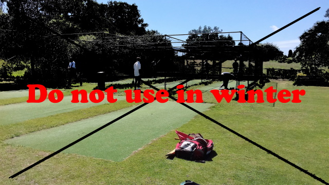 Outdoor nets should only be used in summer - these have now closed for the winter